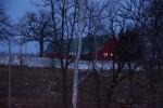 Barn in the dark